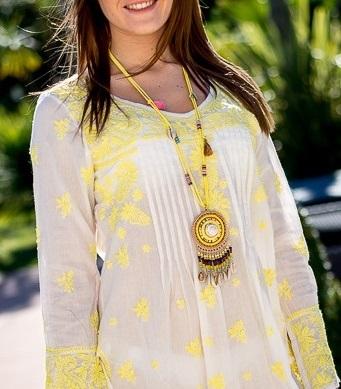 bijou ethnique jaune