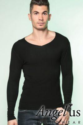 Tee shirt coton modal noir