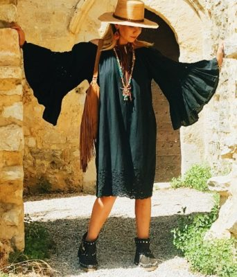 robe coton noire