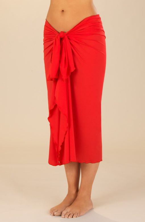 pareo lycra rouge