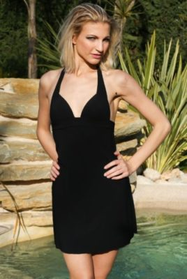 robe unie noire