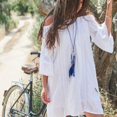 robe blanche coton brodé