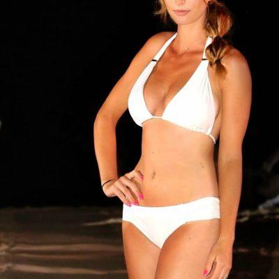 maillot de bain triangle blanc