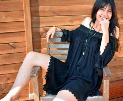 robe tunique boheme noire