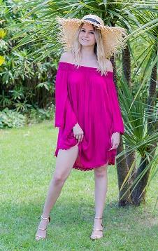 robe tunique framboise