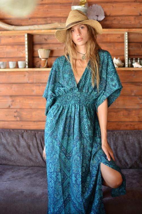 longue robe soie viscose