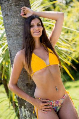 maillot de bain triangle jaune