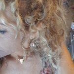 collier ras de cou tête de buffle