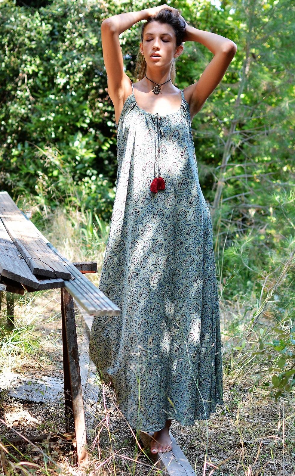 Robe longue fines bretelles